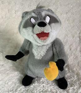"""Vintage Disney Parks Pocahontas Meeko Raccoon Poseable Plush Doll Toy 12"""""""