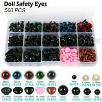 560pcs Plastic Safety Eyes Noses DIY for Teddy Bear Doll Animal Puppet Toy C#