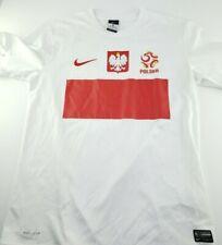 Nike Team Poland Soccer Jersey Authentic  Mens Size Medium M Dri-Fit