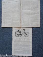 1930 BICICLETTA ANNI 30 VECCHIA TECNICA CAMBIO INFORMAZIONE ANTICA D'EPOCA