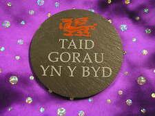 welsh slate coaster TAID GORAU YN Y BYD 'best grandad in the world' CYMRAEG