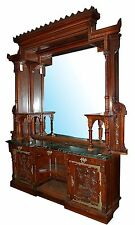 Gothic Revival signed Pottier & Stymus Sideboard/Back Bar c.1890 #7416