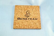 Beneteau Sailboat Square 3/16in Thick Drink Coasters Set of 4 - CORK