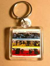 As Is THE POLICE Red Blue STING PHOTO DouBLe SIDED ZIPPER PULL Acrylic KEYCHAIN