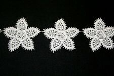 "Venise Lace Medallions - 2"" x 2"" - White Rayon"