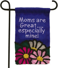 MINI GARDEN FLAG FOR FLOWER POT - MOMS ARE GREAT,ESPECIALLY MINE -JEANE'S THINGS