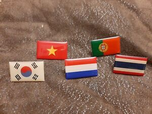 5 Atlas Editions Lapel pin Badges world National Flags collection clearance lot