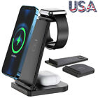 3 in1 Charging Dock Charger Stand For Apple Watch Series/Air Pods iPhone Station
