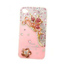 3D Bling Pink Red Butterfly Crystal Bow Case Cover for Apple IPhone 5 E9Y4