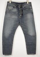 RRP €280 DIESEL NARROT 084VE Men's W32/L34 Carrot Worn Look Ankle Jeans 11520*mm