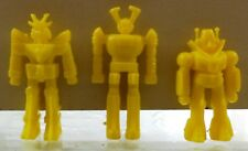 VHTF EXOGINI VTG GREEK LUCKY CUP GIFT LOT OF 3 YELLOW SPACE ROBOTS FIGURES