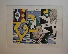 """Roy Lichtenstein """" Pow Wow"""" Lithograph plate signed"""