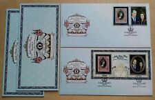 2012 Malaysia QE II Diamond Jubilee Prince William & Kate Stamp + MS 2 FDC (Mel)