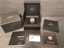 Tag Heuer Monaco WW2110 Automatic Watch Leather Deployment Band Black Box Papers