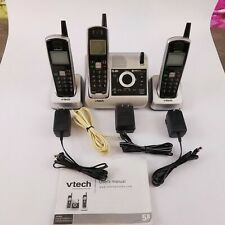 VTech CS5121 5.8 GHz Single Line Cordless Phones w/3 Handsets Answering Machine
