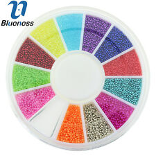 1 Wheel Multi-Color Caviar 3D Nail Art Metal Mix Charms Manicure Jewelry ZP224