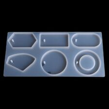 Silicone Mold Mould Epoxy Resin Jewelry Sweater Pendant Chain Making Tool Hole