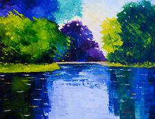 New ListingNatasha Petrosova original oil painting The Lake 16x20 inch