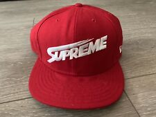 Supreme New York Classic Mont Blanc New Era Hat 7 5/8 Camp Cap Rare Vtg LA Japan