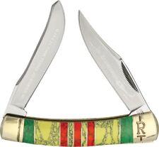 Rough Rider Large Moose Pocket Knife Stainless Blade Imitation Turquoise Handle