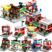 2019 DIY City Series Street Scene Buildings Shops Stores Blocks Toys Fits Le*Go
