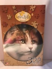 Serendipity Jumbo Grip Round  Puzzle Princess Sophia Cat Ken Messom 300 PC