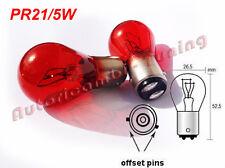 COPPIA LAMPADINE PHILIPS 12V ROSSA PR 5/21W STOP E POSIZIONE FORD BAW15d 12495CP