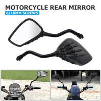 1Pair 8/10mm carbon fiber Black Motorcycle Motorbike Wing Side rear view mirror