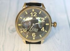 HENRY MOSER & Cie Swiss vintage men's mechanical wristwatch Military style