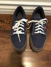 Vans Era Blue Denim Shoes Sz 10 US Excllent Condition !!