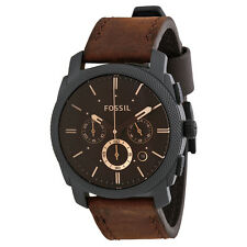 Fossil Men's FS4656 'Machine' Chronograph Brown Leather Watch