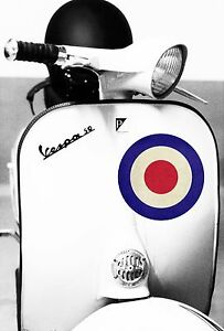 SUPERB VESPA SCOOTER CANVAS #97 RETRO ITALIAN MODS BIKE WALL ART CANVAS PICTURES