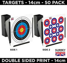 Air Rifle Pistol Gun BB Airsoft Shooting Targets - TWO SIDED - 14cm - 50 Pack