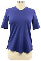 Isaac Mizrahi Live Essentials XS Navy Blue V-Neck Elbow Sleeve Tunic A289635