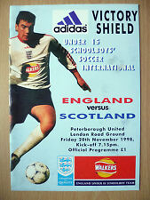 1998 U-15 Schoolboy's Soccer International : ENGLAND v SCOTLAND