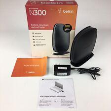Belkin N300 300 Mbps 4-Port LAN 10/100 Wi-Fi N Router F9K1002v4 Wireless Network