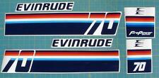 Evinrude Outboard Hood Decals 70hp 1974 era
