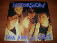 """DISTORSIÓN -ESTO ES... PARA KITAR EL STRESS-  LP 12"""" DISCOS SUICIDAS 1991"""