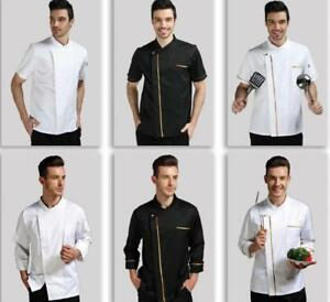 Chef long sleeve uniform Hotel kitchen  custom logo Twill cotton cook jacket