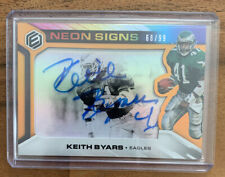 2019 Panini Elements Neon Signs Keith Byars Auto /99 Eagles #NS1-KB