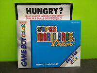 Super Mario Bros Deluxe Nintendo Game Boy Color Video Game Manual Only