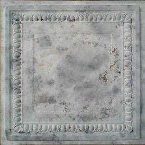 Retro ceiling tiles faux tin distress white gray decor wall panel PL06 10pcs/lot