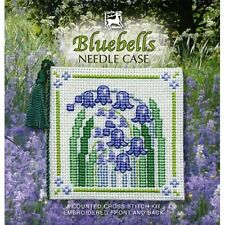 Bluebells Needle Case Cross Stitch Kit By Textile Heritage Floral