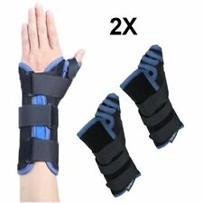 2X Thumb Hand Wrist Brace Carpal Tunnel Support Arthritis Compression Gloves Wo