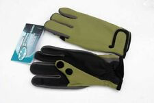 MUKLUKS Neoprene Green split Finger Fishing Gloves (M)