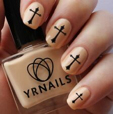 Nail WRAPS Nail Art Water Transfers Decals - Religious Cross - S303