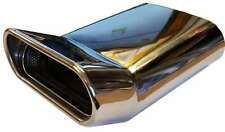 MITSUBISHI Lancer 230x160x65mm OVALE casella postale di Scarico Punta Tubo di Coda Cromato saldatura su