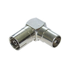 Coaxial Low Profile TV Aerial Right Angle/Angled 90 Degree Male Female Adaptor