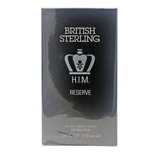 British Sterling Him Reserve by Dana Eau De Toilette 3.8oz Spray New In Box