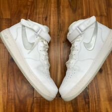 Nike Mens Air Force 1 Mid 07 Basketball Shoe White Silver 315123 2012 Lace Up 17